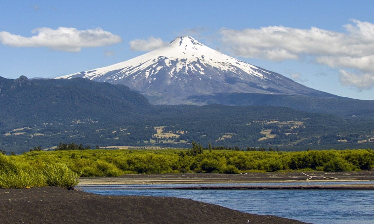 Chile Blick auf den Vulkan