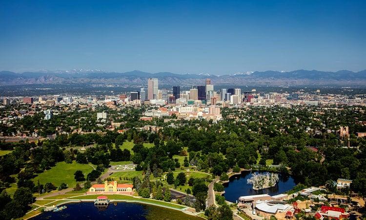 Blick auf Denver
