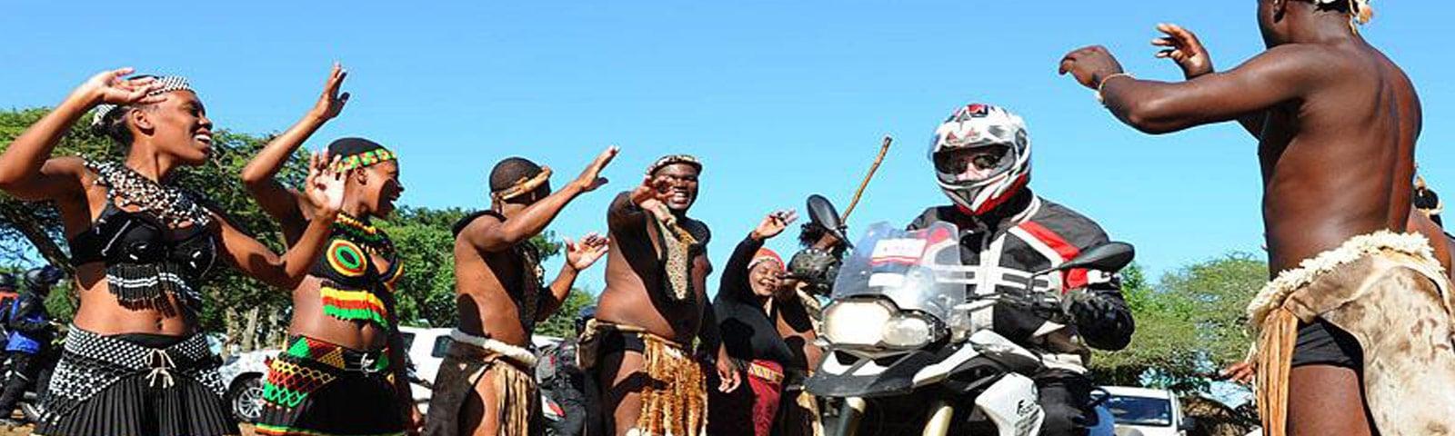 Begrüßung im Shakaland