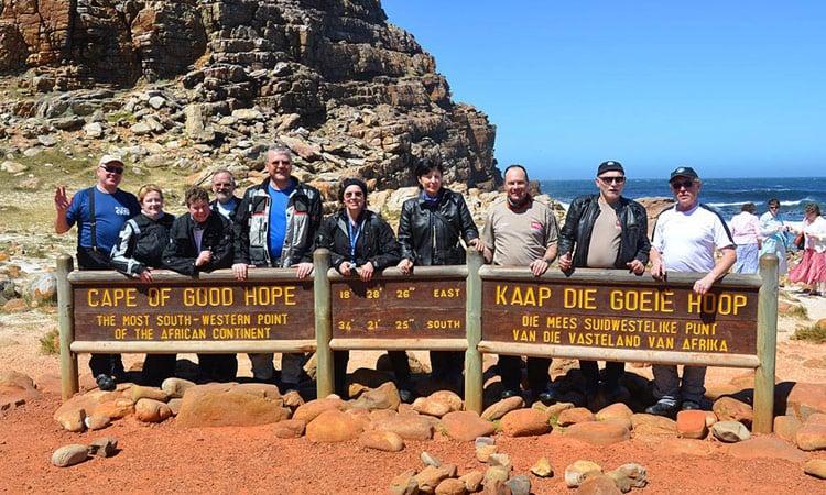Gruppenbild am Kap der guten Hoffnung