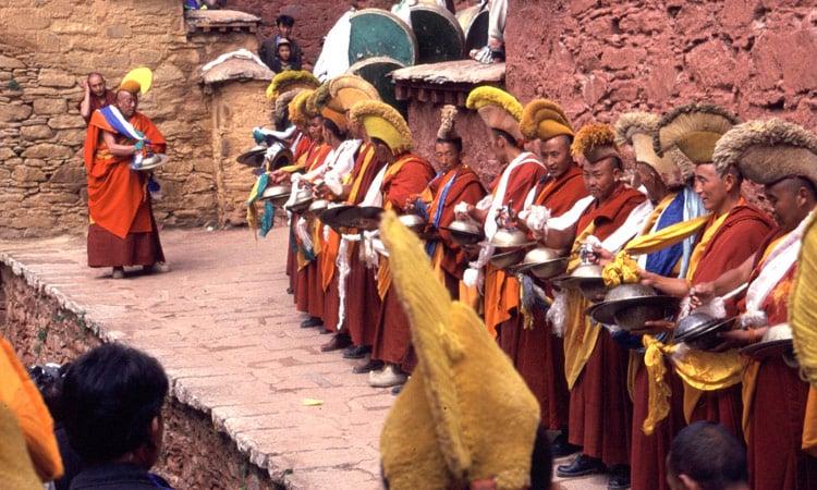 Die Gelubka (Gelbmützen) Mönche