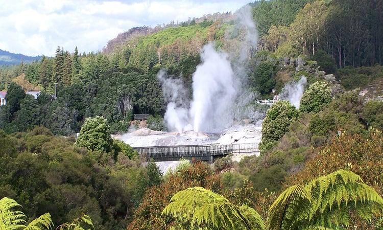 Geysire bei Rotorua