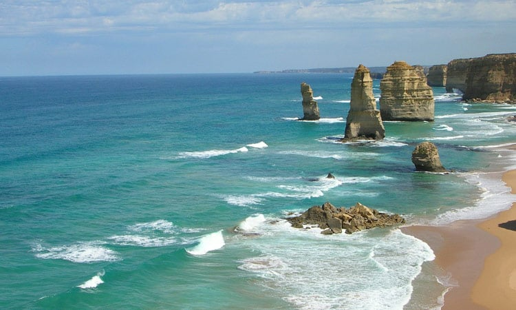 Traumhafter Strand der Great Ocean Road