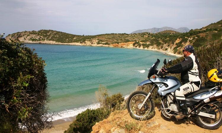 Herrlicher Ausblick auf das Meer und die Küste