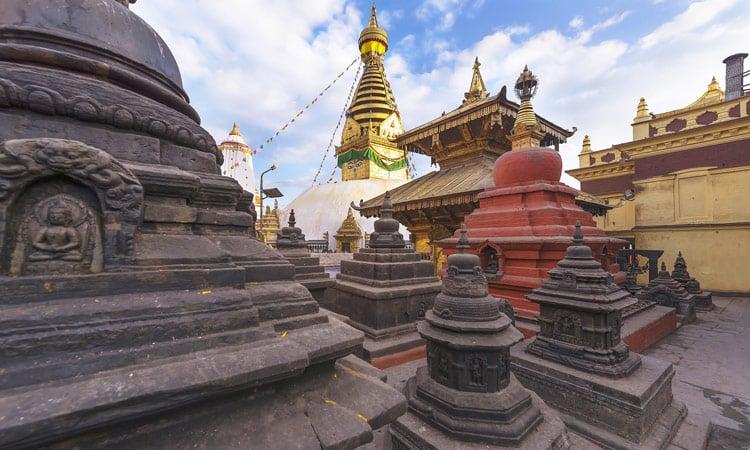 Die Swoyambhunat Stupa in Kathmandu
