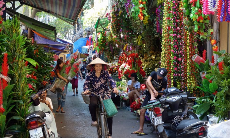 Die Blumenstraße im Bazar