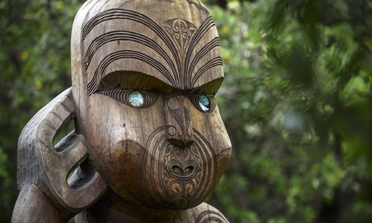 Maori Skulptur