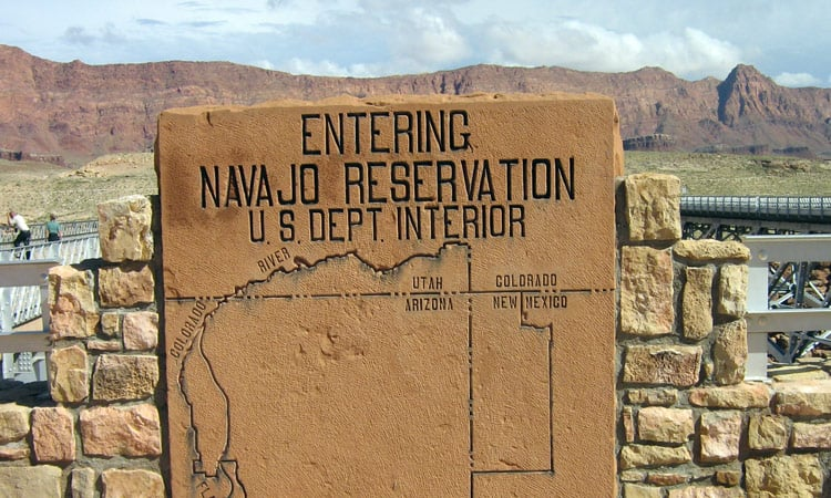 Eingang zur Navajo Reservation