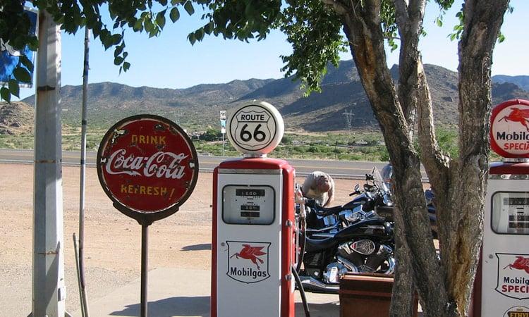 Alte Tankstelle an der Route 66