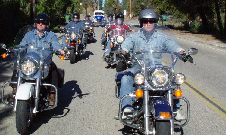 Harley Fahren in der Gruppe