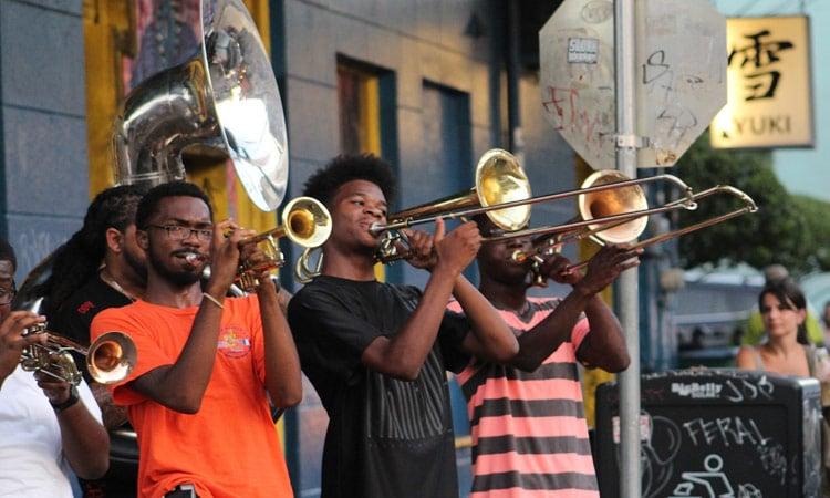 Straßenmusik in New Orleans