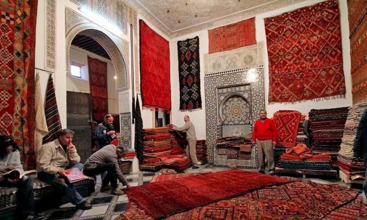 Teppichhändler in Marrakesch