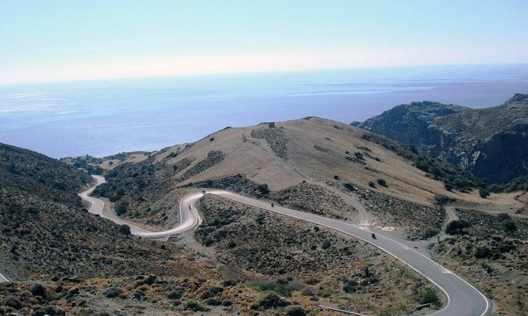 Die Berge von Kreta ein Kurvenparadies