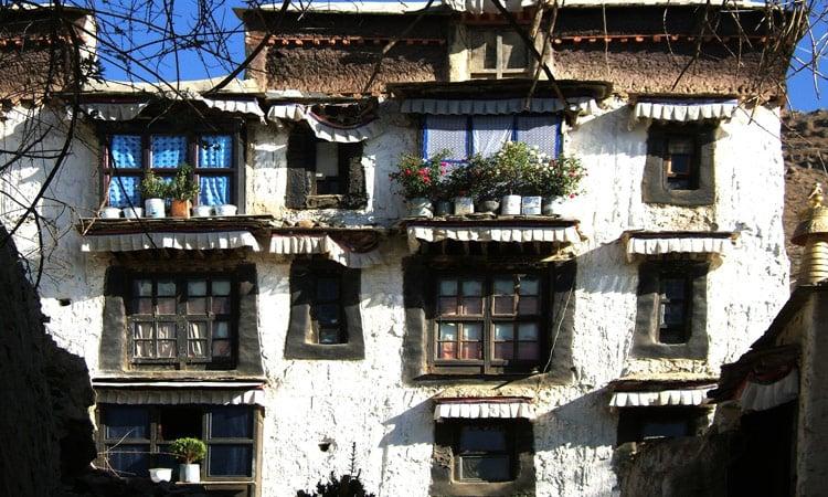 Ein uraltes Haus in Gyantse