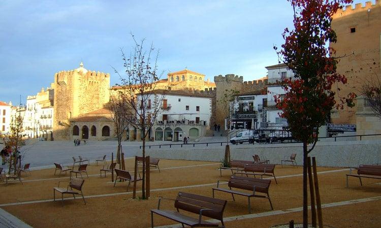 Der Hauptplatz von Caceres