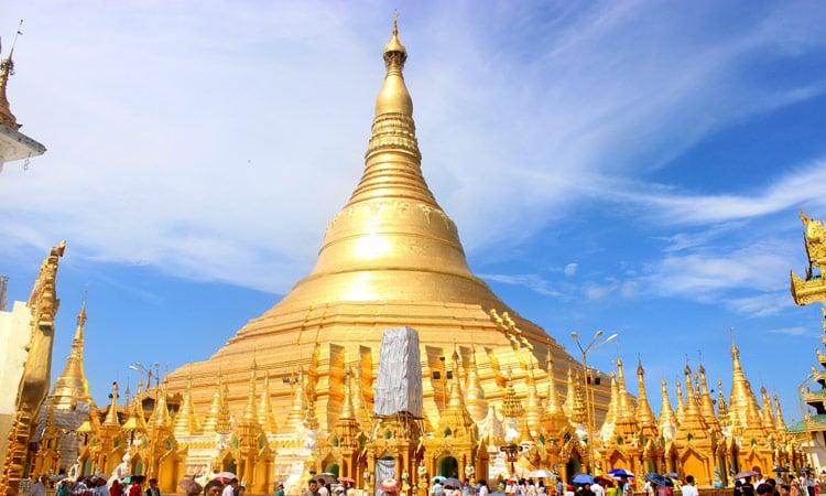 Die goldene Shwedagon Pagode