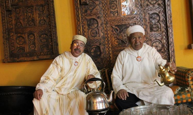 Marokkaner beim Teetrinken