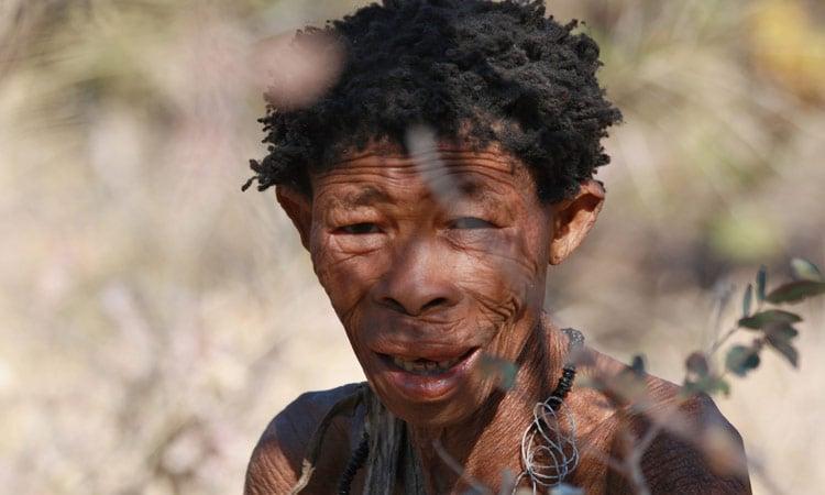 Ein alter Buschmann in Damaraland