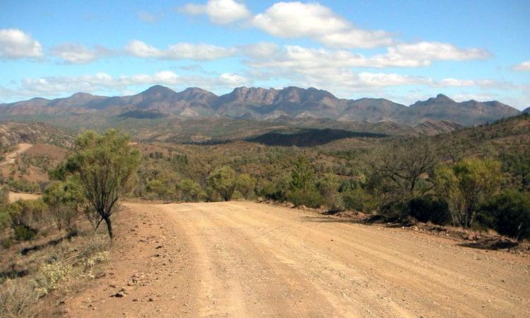 Der Flinders Range Gebirgszug