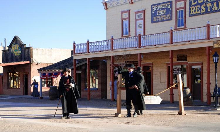Die show der Schießerei am O.K. Corral von 1881