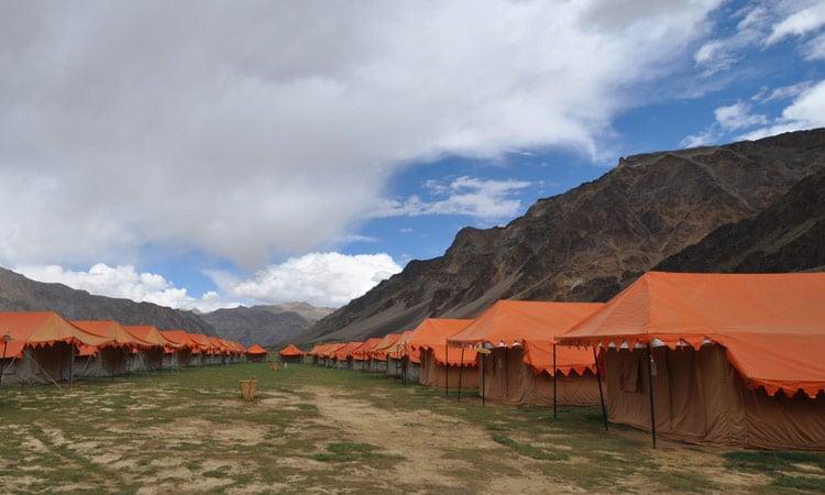 Unser Luxuszeltlager in Sarchu
