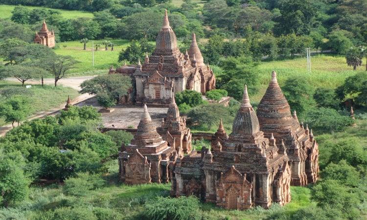 Die Tempelanlage von Bagan