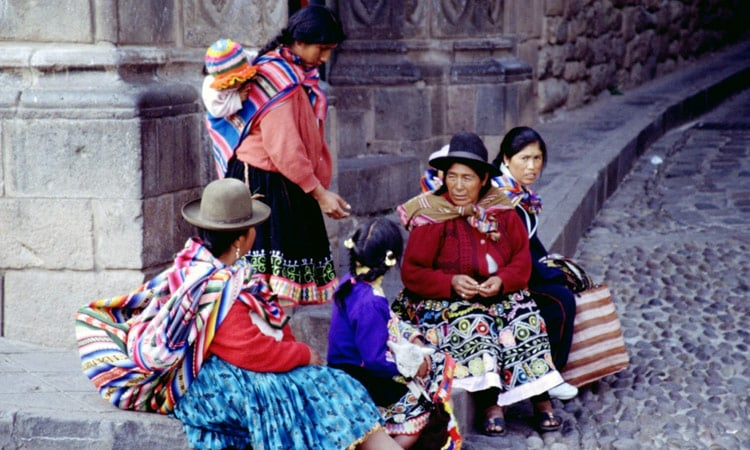 Indio Frauen in Cusco