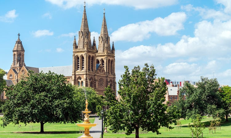 Die St. Peter Kathedrale in Adelaide