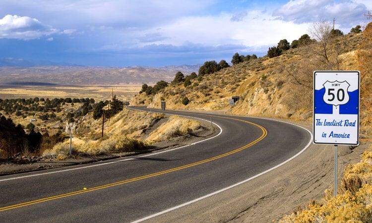 Highway 50 die einsamste Strasse der USA