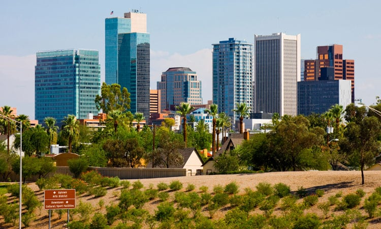 Die skyline von Phoenix