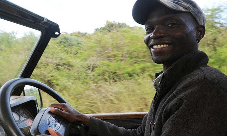Unser Fahrer auf der Safari