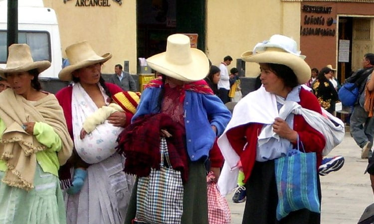 Frauen in Cajamarca