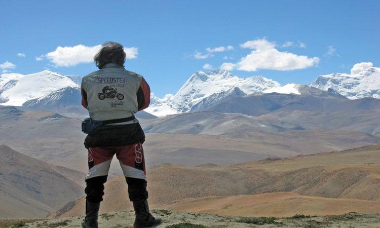 Ein einmaliger Blick auf die Gipfel des Himalaya