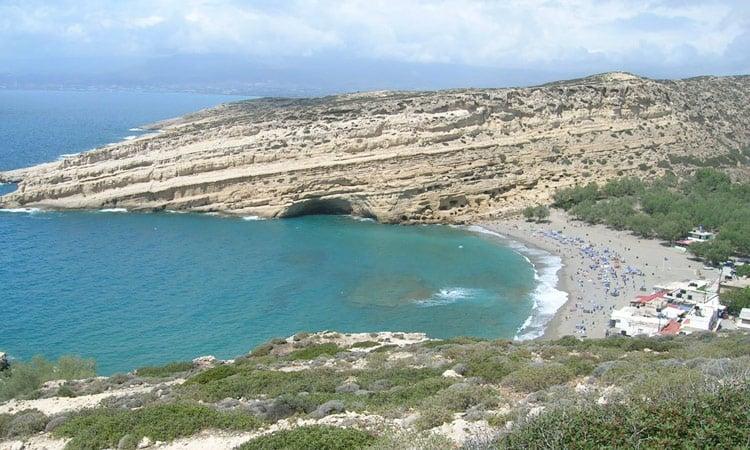 Blick über Matala