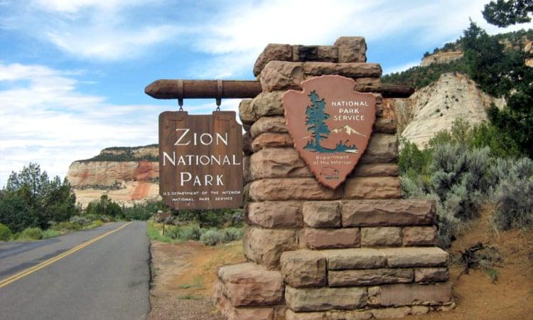 Eingang zum Zion National Park