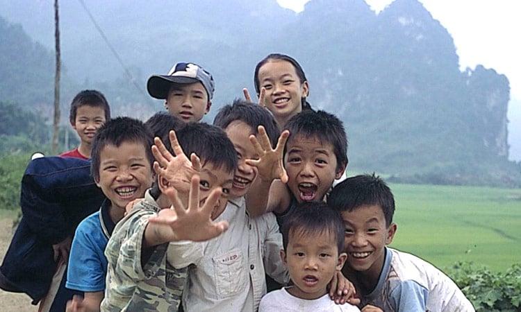 Lachende Kinder