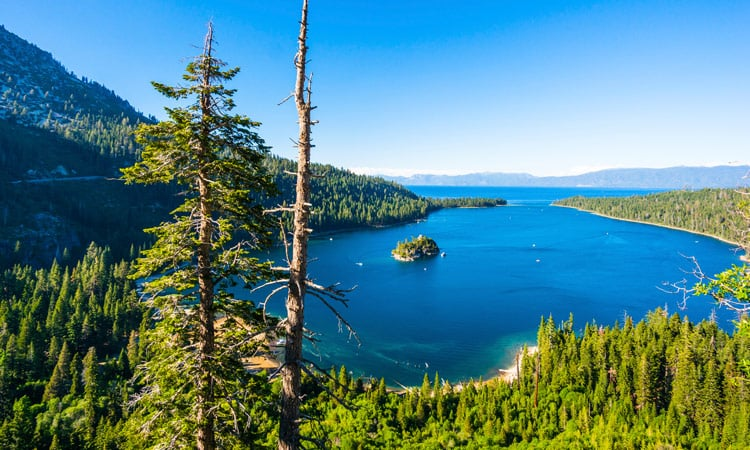 Lake Tahoe perfektes Panorama