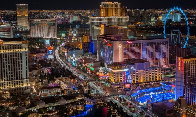 Blick auf den Las Vegas Strip
