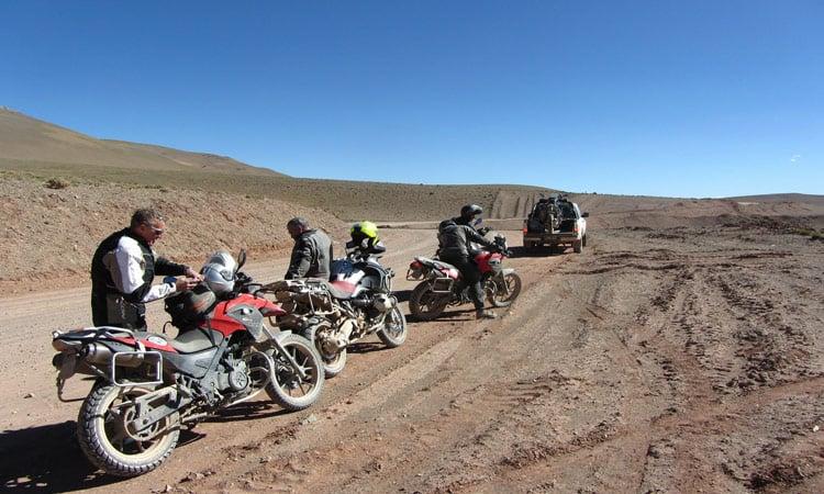 Chile - Patagonien Rast neben der Piste