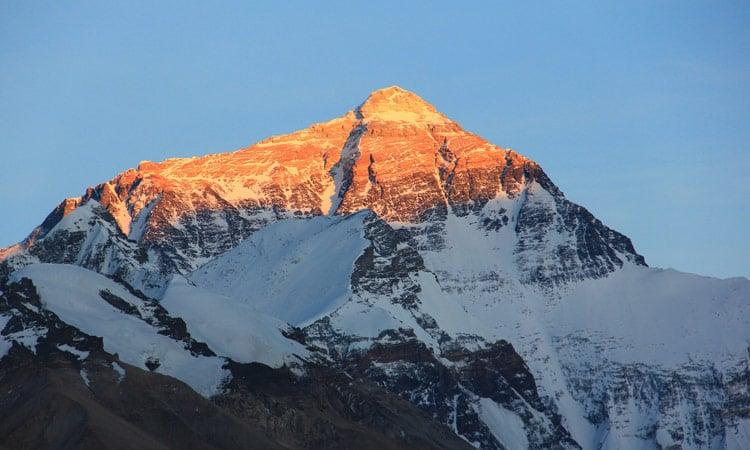 Freier Blick auf den Mount Everest