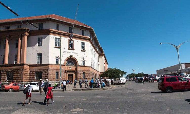 Die Innenstadt von Bulawayo
