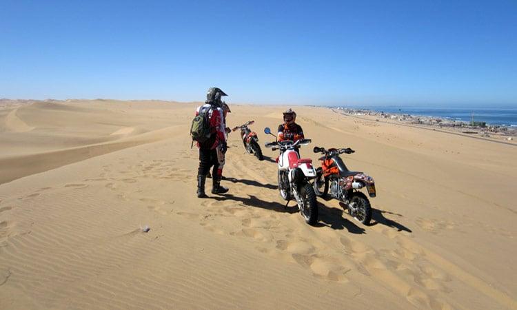 Ein toller Blick - auf der einen Seite das Meer und auf der anderen Seite die Dünen