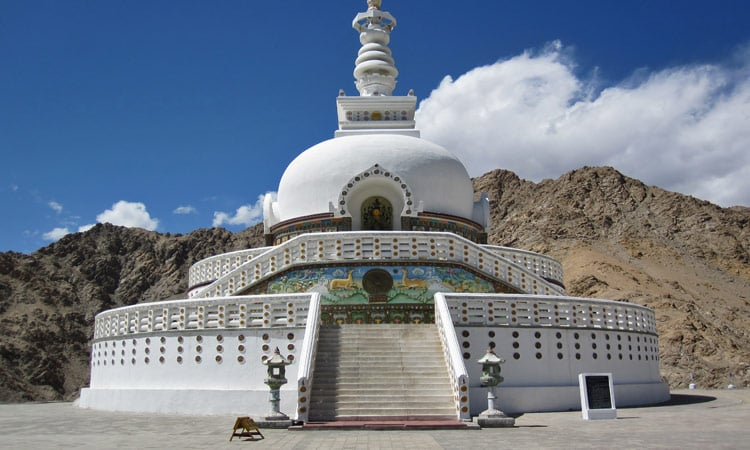 Die Shanti Stupa in Leh