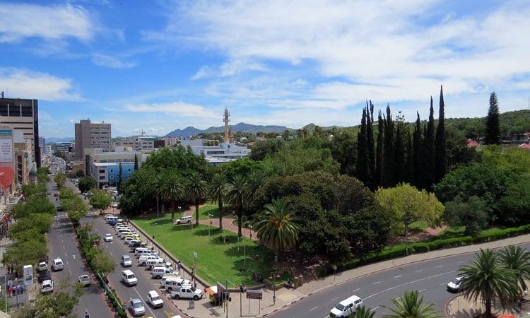 Blick auf Windhoek