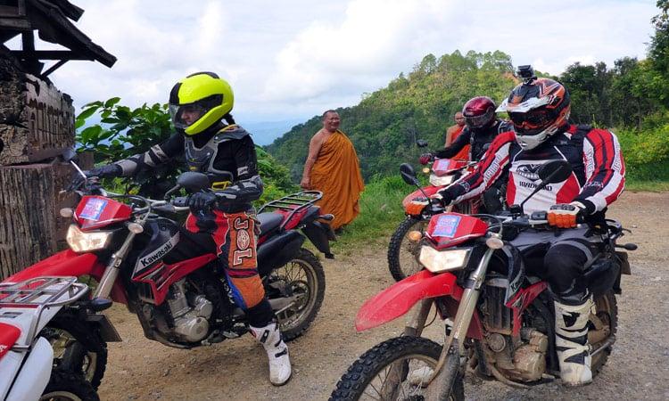 Biker und Mönch