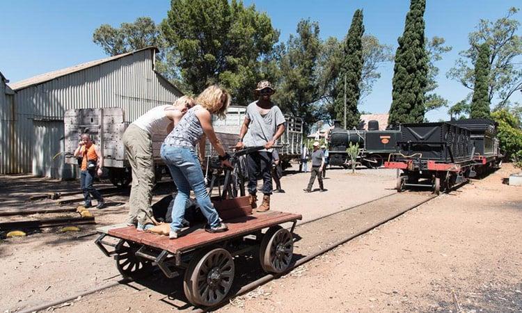 Das Eisenbahn Museum in Bulawayo