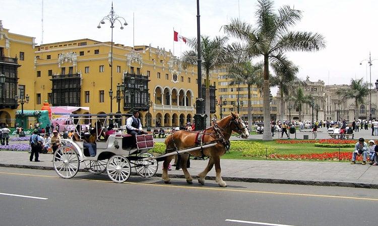 Pferdekutsche in Lima