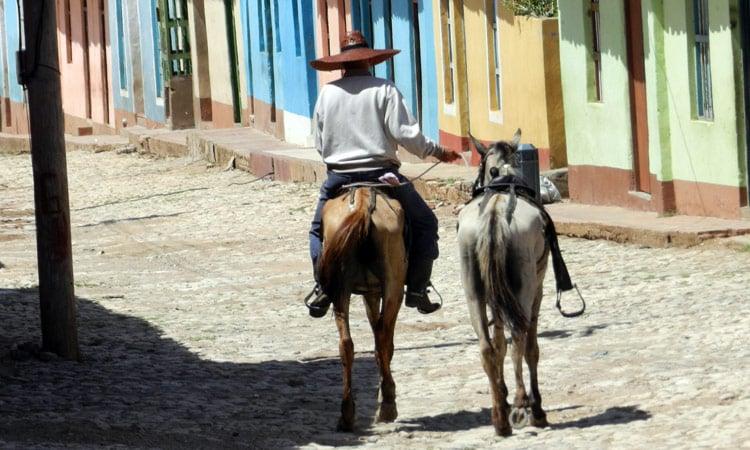 Reiter in Trinidad kein ungewöhnlicher Anblick