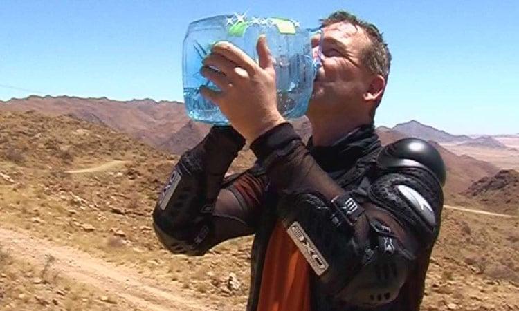 Wir haben immer kühles Mineralwasser dabei - Ganz wichtig!