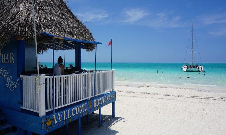 Restaurant am bekannten Coco Beach